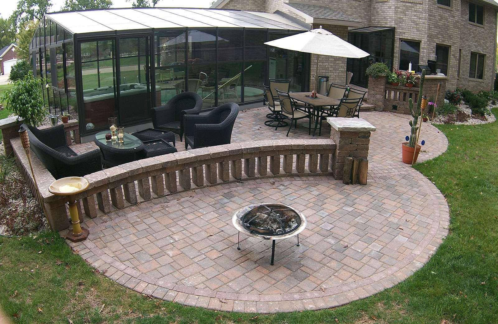 Seat Walls Hardscape patio, Wall seating, Hardscape