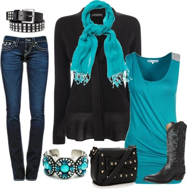 """""""Turquoise Vision"""" by keri-cruz on Polyvore"""
