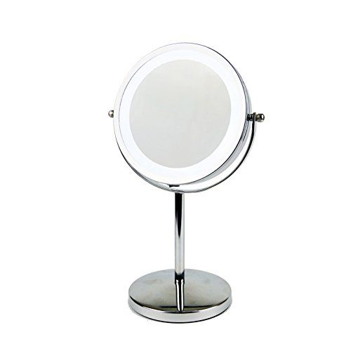 Triproc 7 Inch 1x3x Magnified Double Side Led Lighted Makeup Mirror Cordless Battery Operated Illuminated Yo Makeup Mirror With Lights Mirror Makeup Mirror