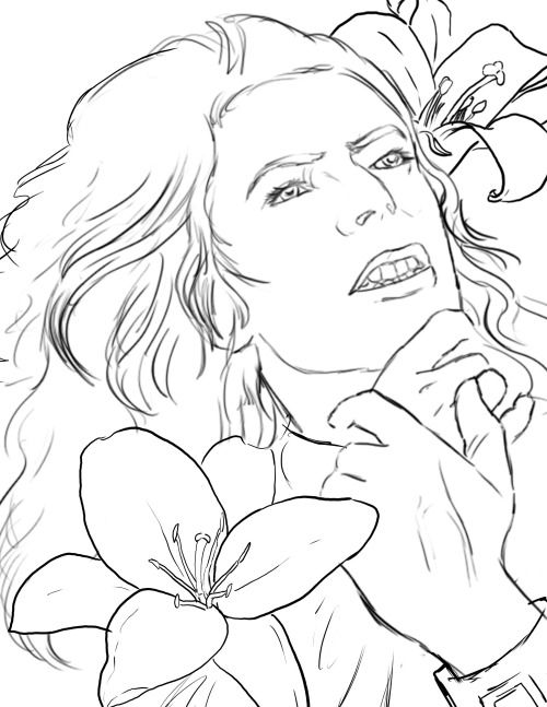 Picture Of Lillies Silvermoon822 David Bowie Coloring For Big