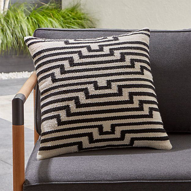 Mohave Lines Outdoor Pillow Reviews Crate And Barrel In 2020 Outdoor Pillows Pillow Mixing Outdoor Cushions