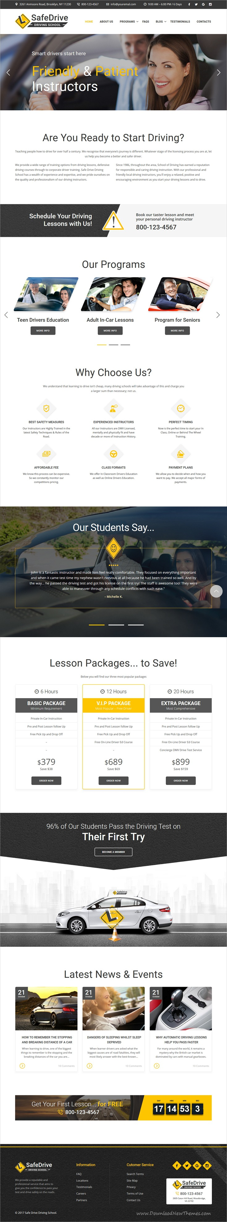 Safe Drive Is Clean And Modern Design Responsive Bootstrap Template