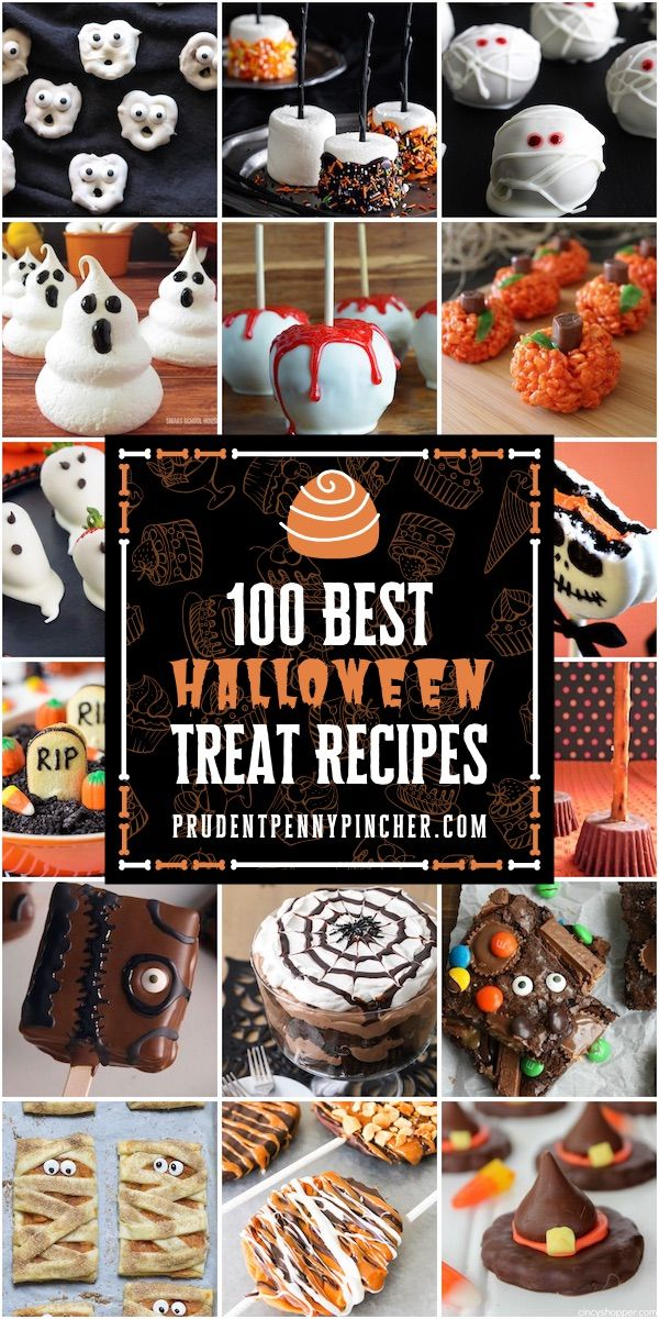 100 Best Halloween Treats #halloweendesserts