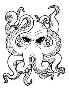 tattoo ideas on Pinterest Octopus Drawing Pin Up Girls and