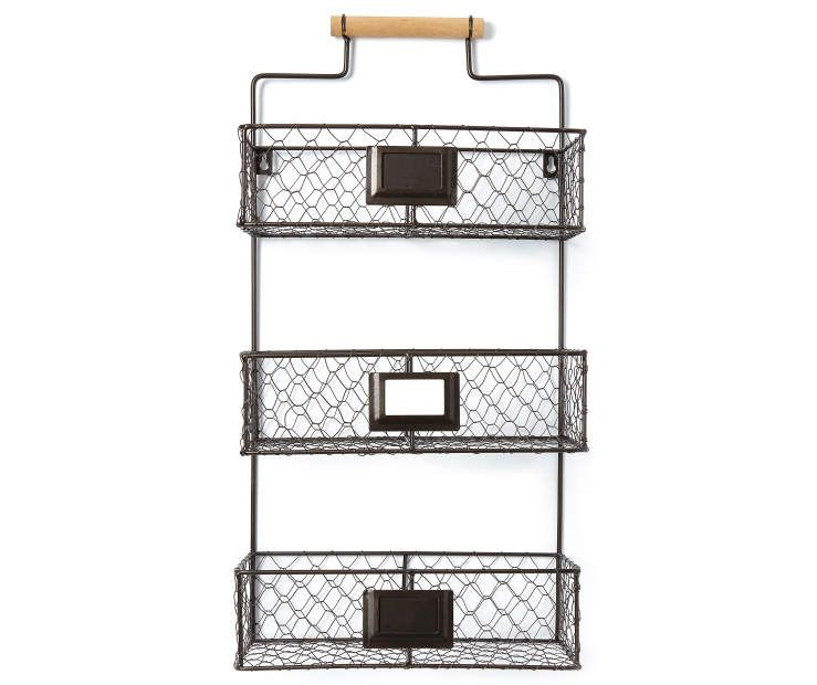 Chicken Wire 3 Tier Storage Rack With Labels Big Lots Wire Wall Shelf Storage Rack Chicken Wire