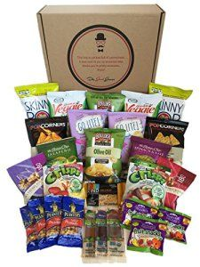 Gluten free and vegan healthy snacks care package by the good gluten free and vegan healthy snacks care package by the good grocer count for college military school lunches gift box variety pack assortment best negle Gallery