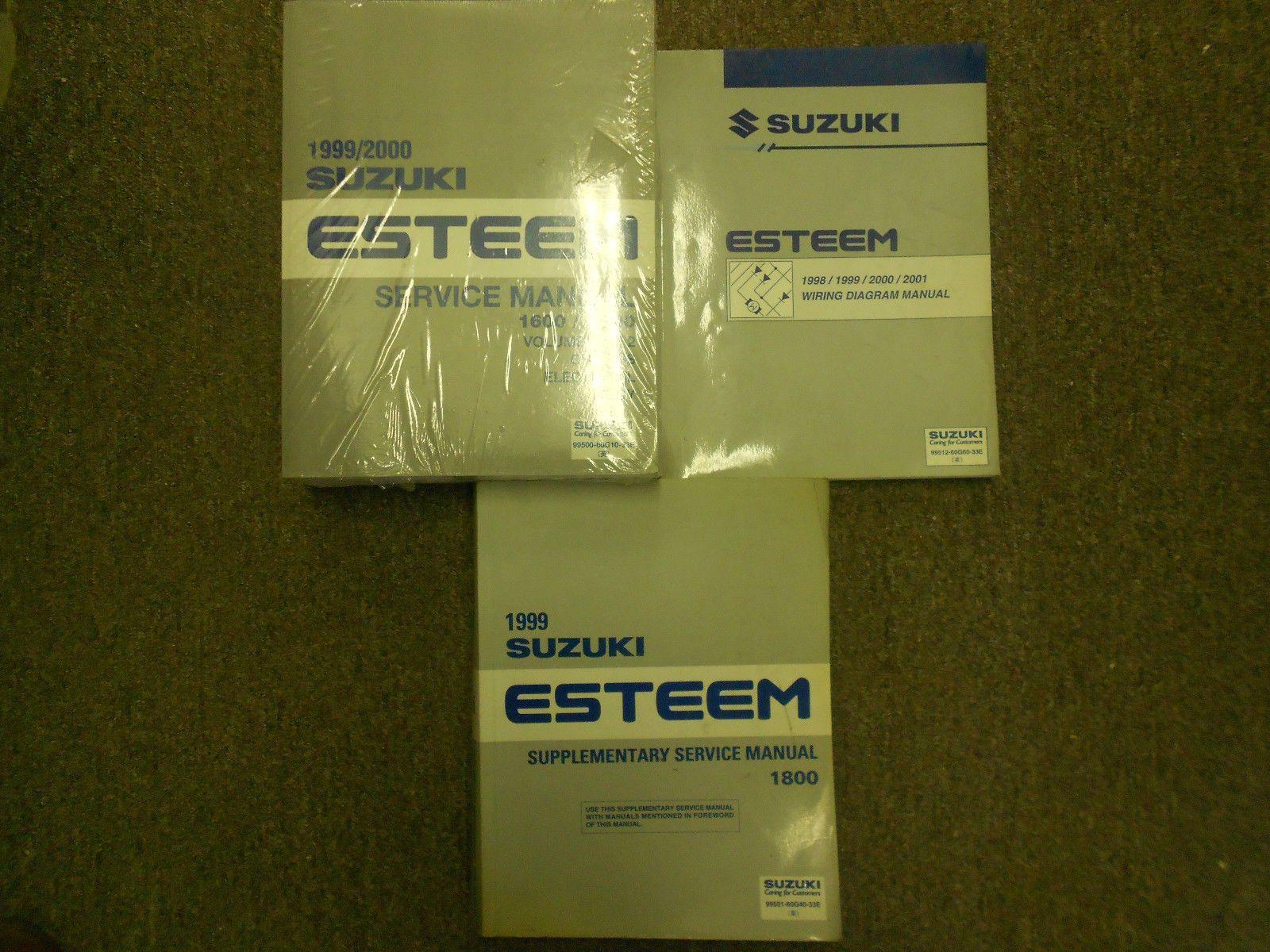 1999 2000 SUZUKI ESTEEM Service Shop Repair Manual SET DEALERSHIP 4 VOLUME  NEW | Motors-Manuals-Literature | Pinterest