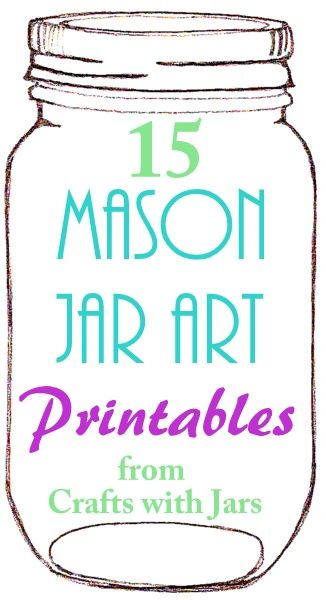 Crafts with Jars: Printable Mason Jar Art