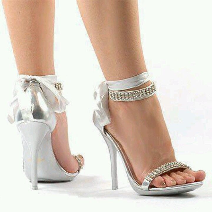 Silver Heels For A Wedding