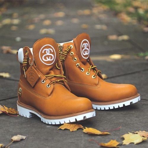 727f4337 The Timberland x Stussy Premium 6 Inch Boots in Wheat are now available at  Motivation. These limited collaboration boots feature a large embroidered  Double ...