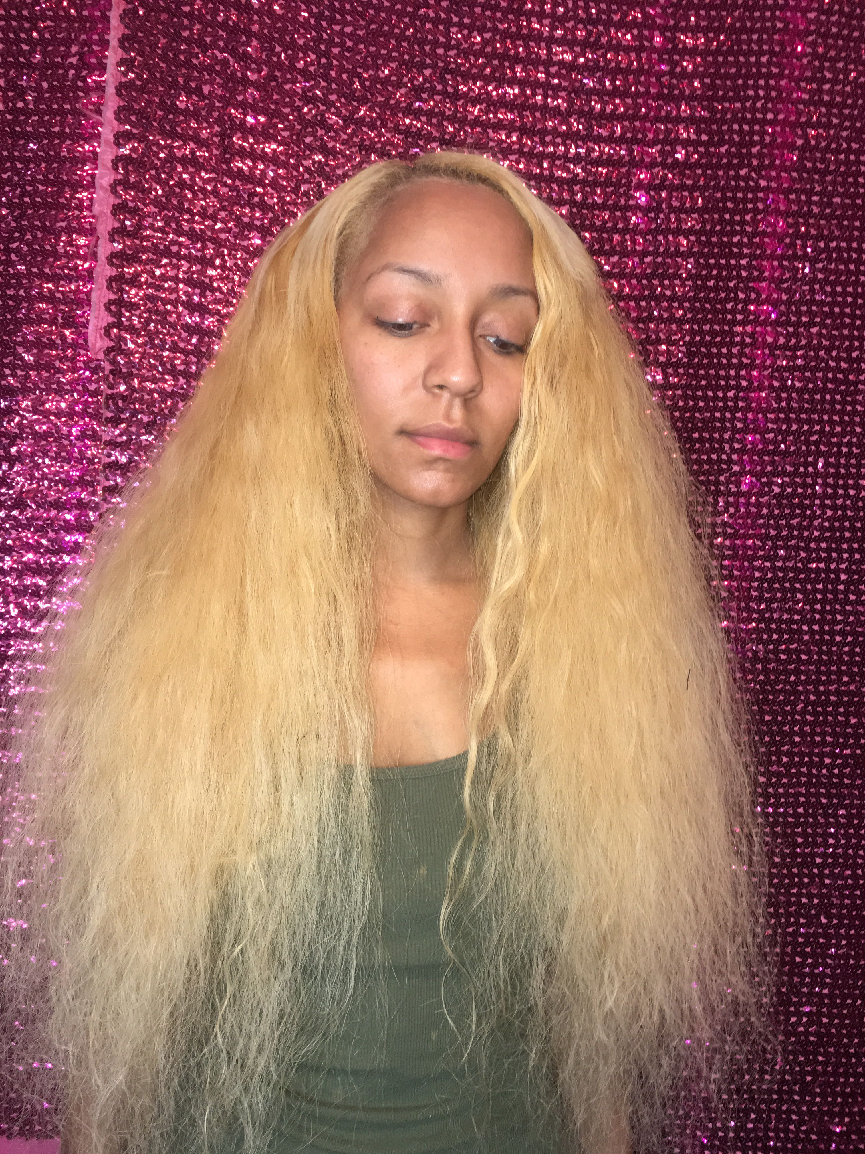 Our hair extensions can be bleached, flat iron and more