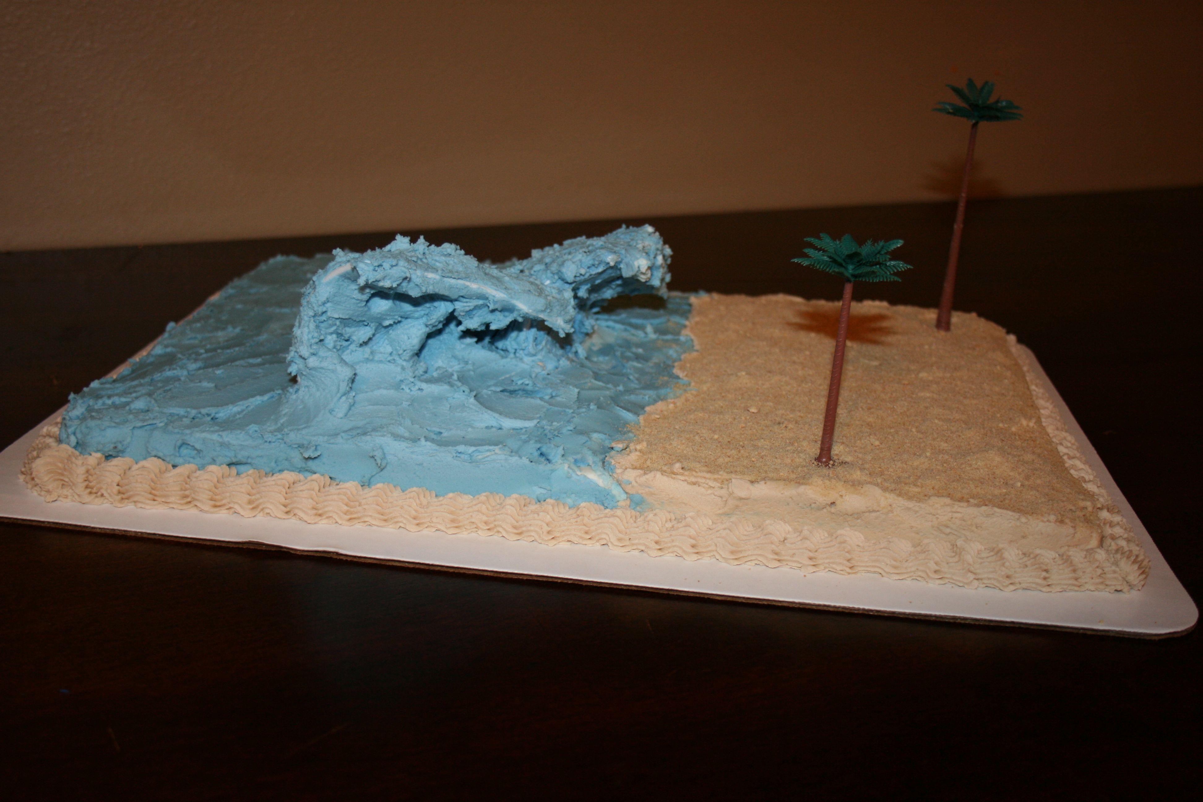 Tsunami Science Project Cake Natural Disaster Big Wave