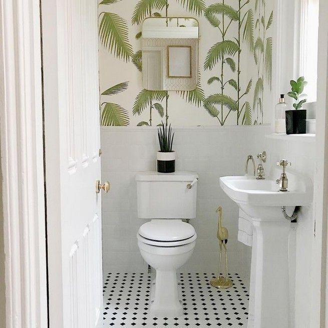 Downstairs toilet ideas small wallpaper 24 #smalltoiletroom
