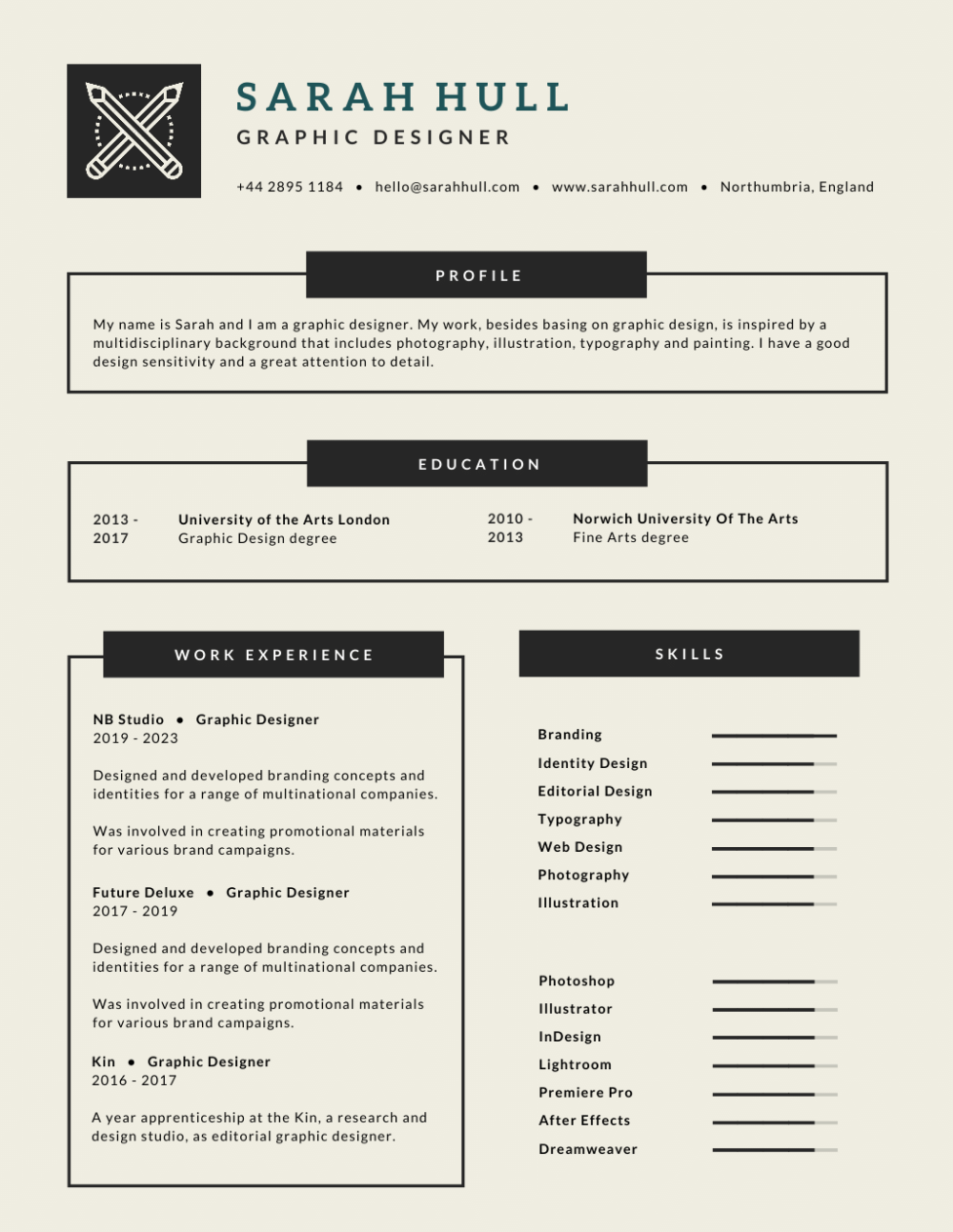 Greyscale Infographic Corporate Resume Résumé by Learn