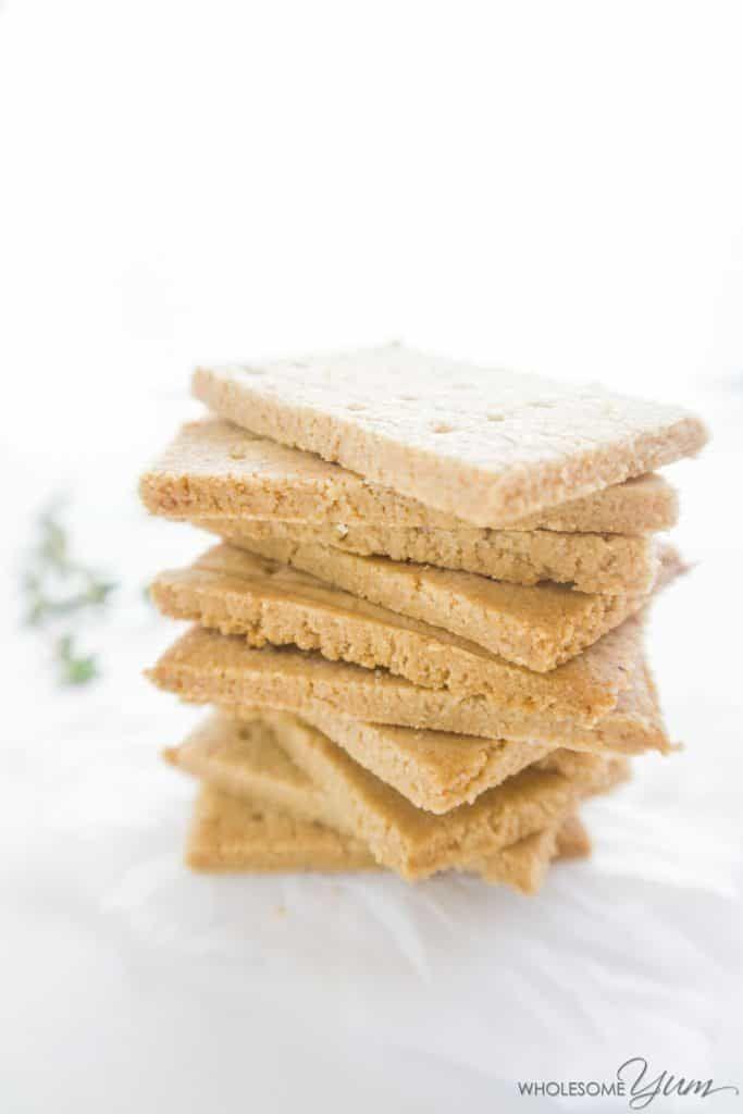 3 Ingredient Paleo Crackers Low Carb Gluten Free Low Carb