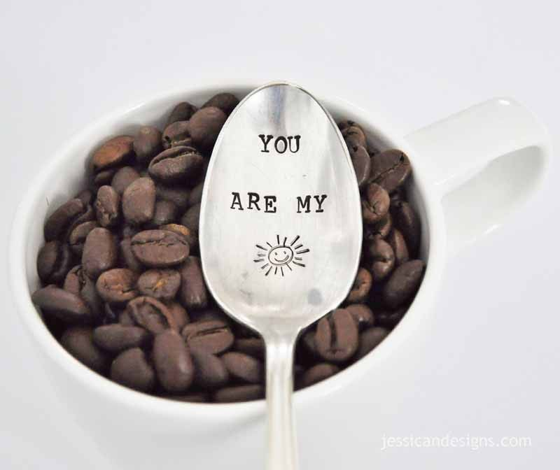 You Are My Sunshine Hand Stamped Spoon from jessicandesigns