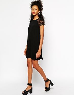 River island black lace dress asos