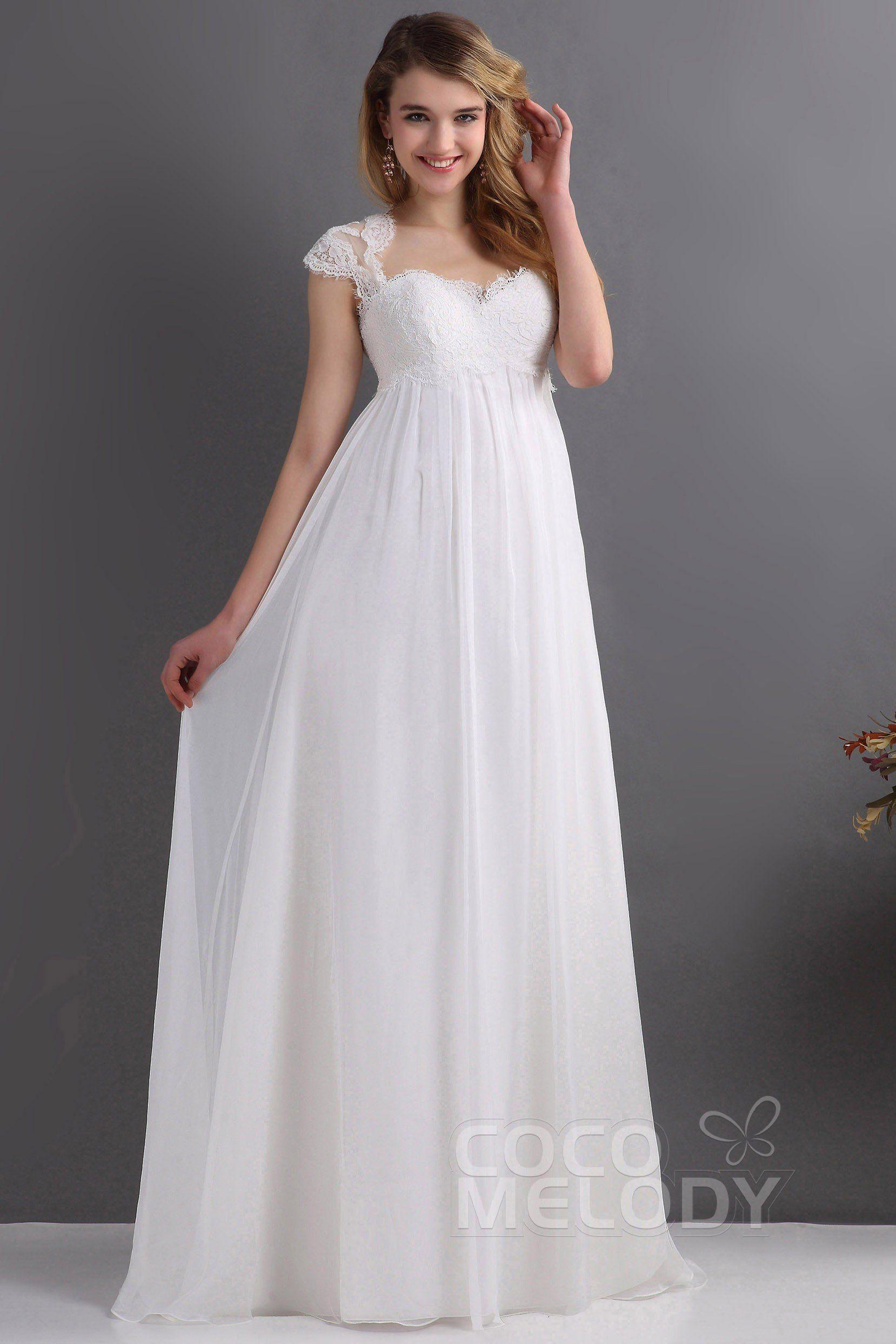 [ USD 199 ] SheathColumn Train Chiffon Wedding Dress