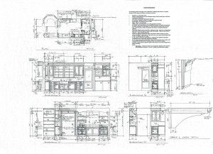 Kitchen blueprint 1920s spanish idea for my galley kitchen kitchen blueprint 1920s spanish malvernweather Choice Image