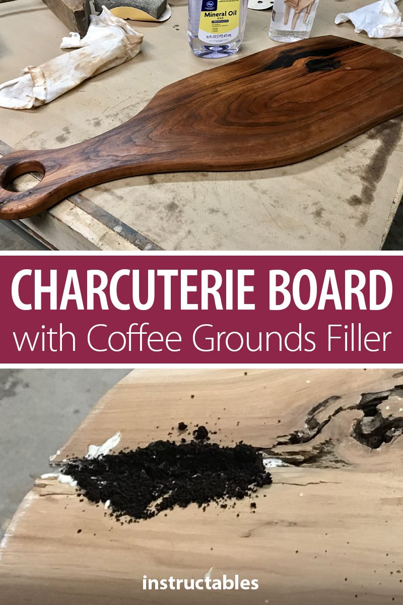 Charcuterie board with coffee grounds filler charcuterie