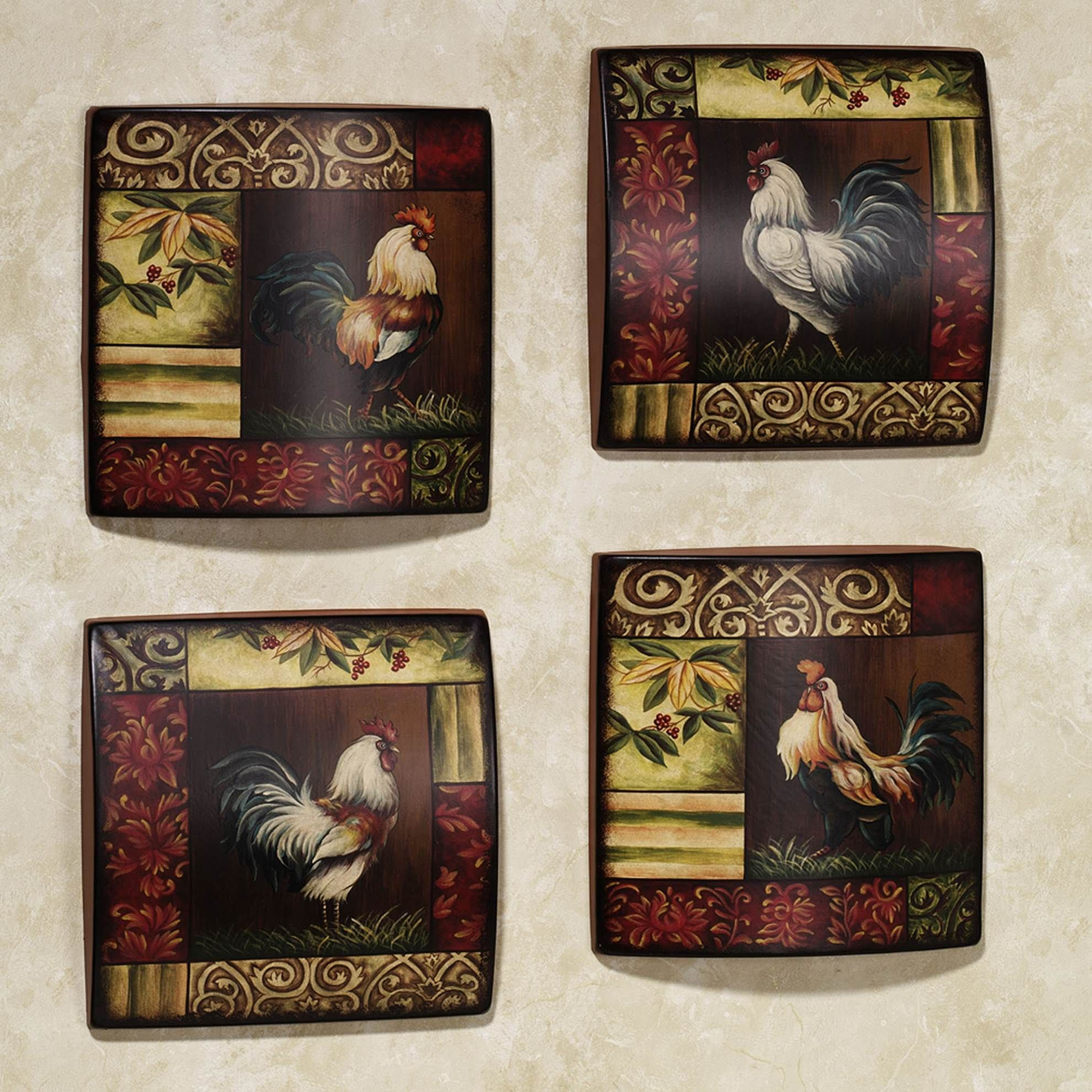 French rooster kitchen wall decor rooster kitchen decor under 25