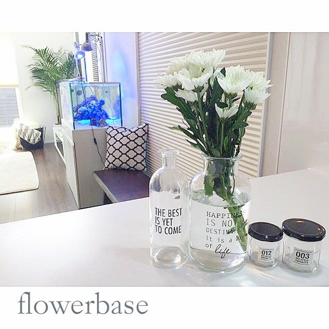 Yukikokamo2 On Instagram ふらっと寄ったナフコで可愛いフラワーベースを発見 なんぼやろ W ドキドキ 300円 小 と500円 大 そっこーで連れて帰ってきてやりましたよ Decor Glass Vase Instagram Posts