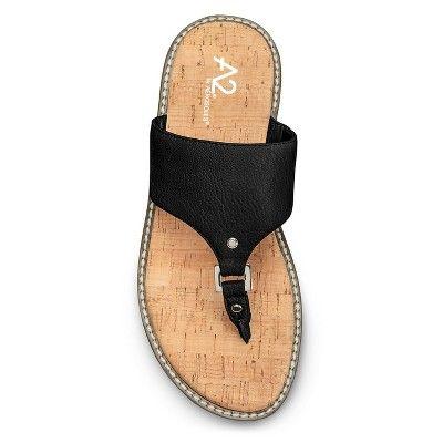 7227275c89de Women s A2 by Aerosoles Cool Cat Slide Sandals - Black 8.5 ...