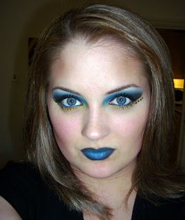 blue witch makeup | Labels: Electric Eyes Blue Tang Yellow Black Makeup Make Up Bright ...