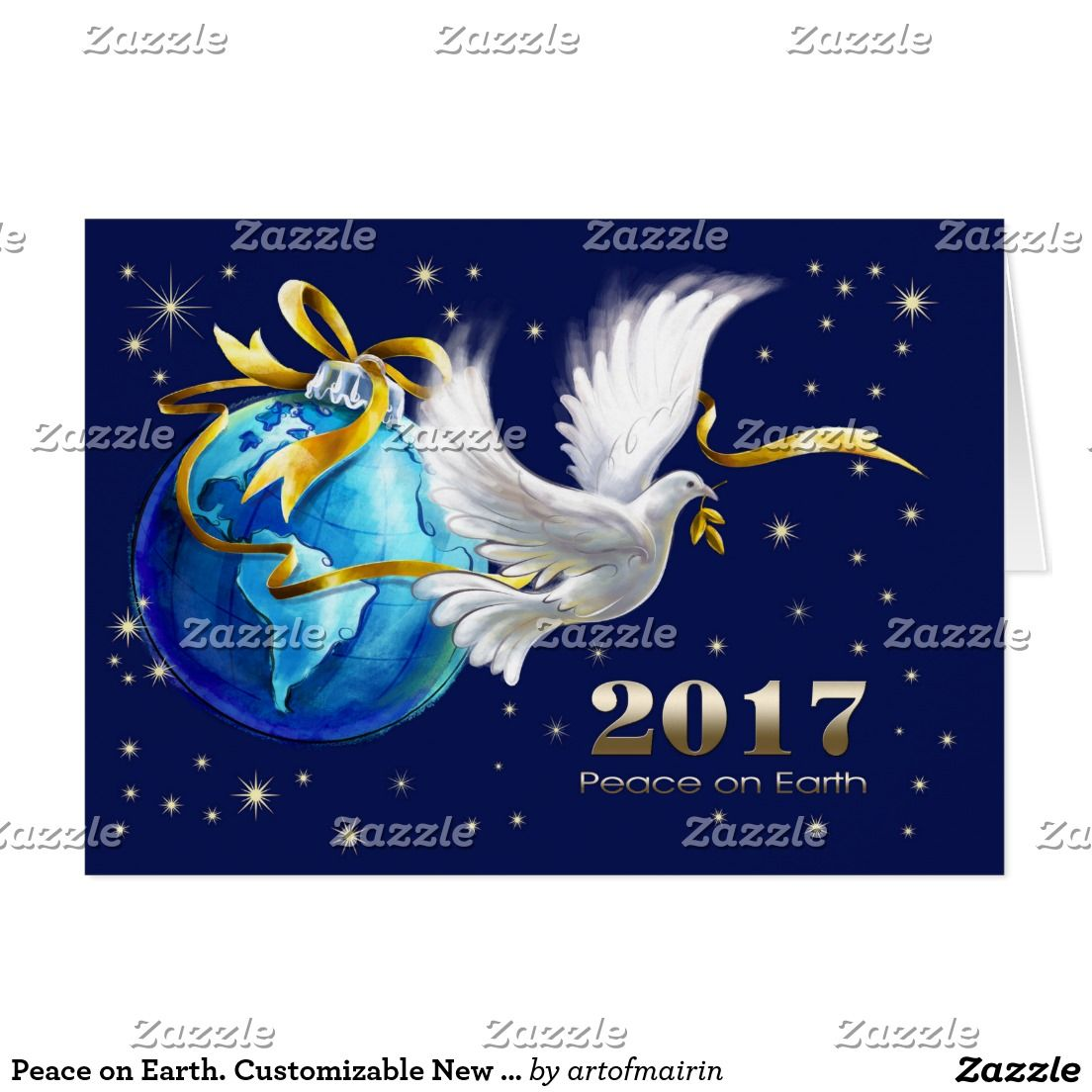 Peace On Earth Merry Christmas Happy New Year 2017 Peace Dove