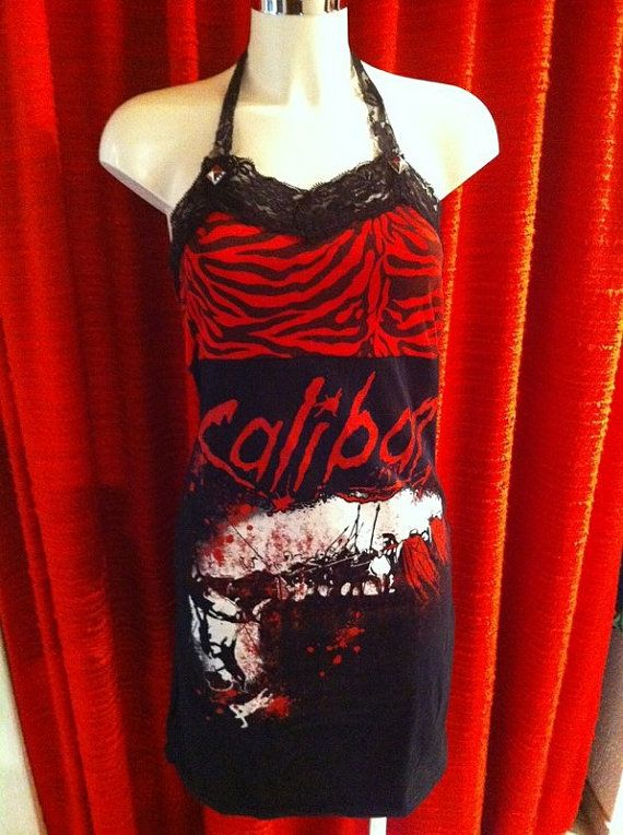 Caliban Tiger Dress Black / Red Size S-M by CrowsShop on Etsy
