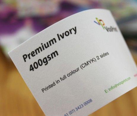 Print Premium Ivory Business Cards 400gsm Vosprint Cards Business Cards Printing Business Cards