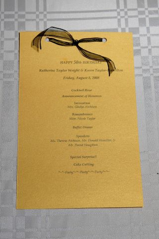 50th Birthday Gala program I designed, printed and ...