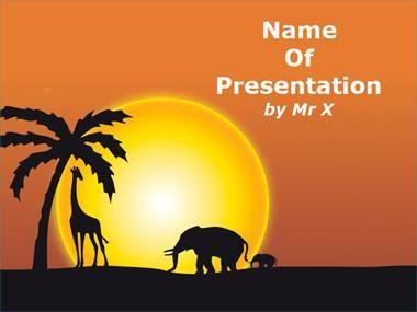 Sunset in africa powerpoint presentation template pp templates ppt template toneelgroepblik Gallery