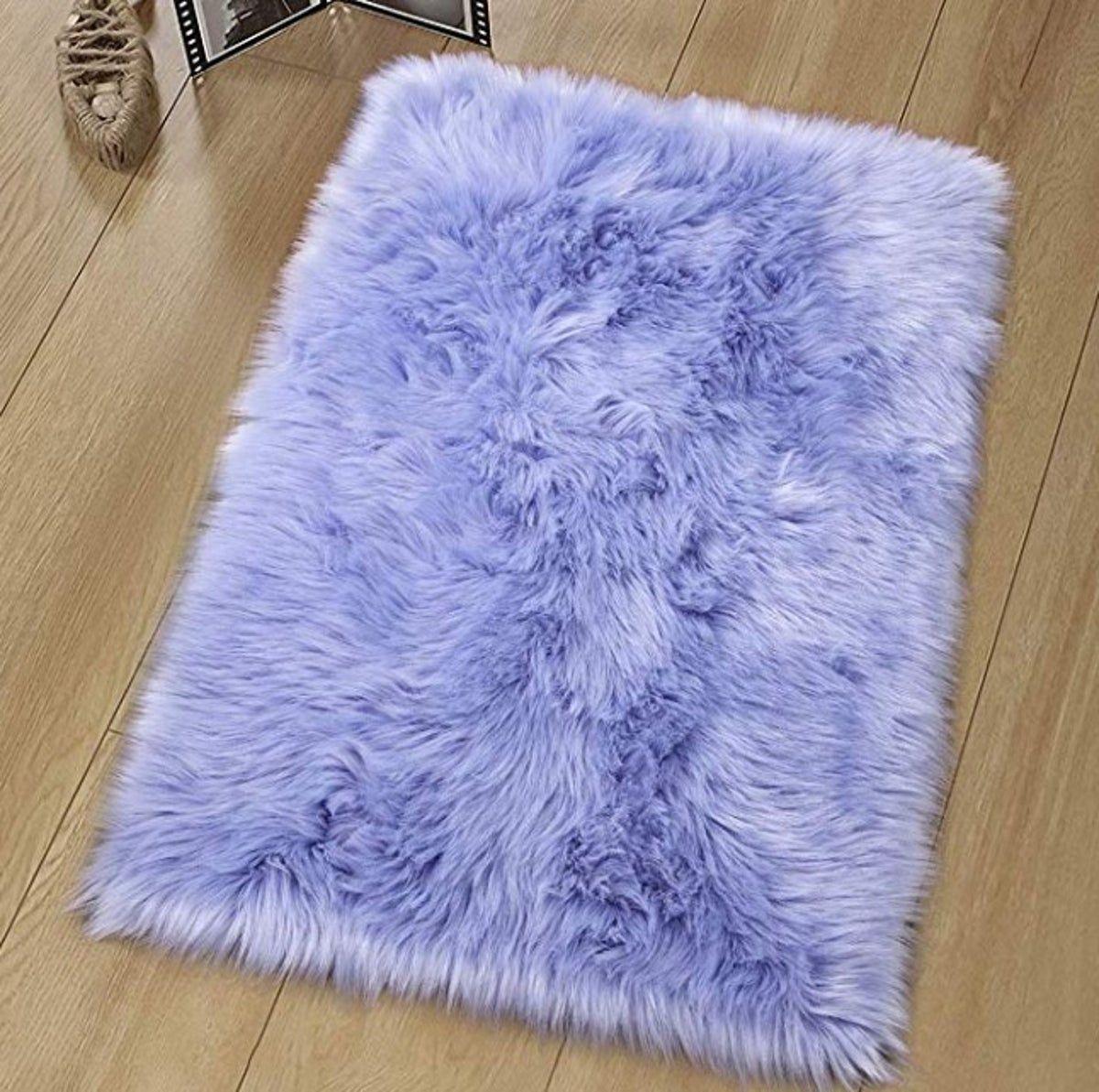 Light Purple Luxury Fluffy Rug Purple Bathroom Decor Purple Rug Bedroom Purple Room Decor [ 1193 x 1200 Pixel ]