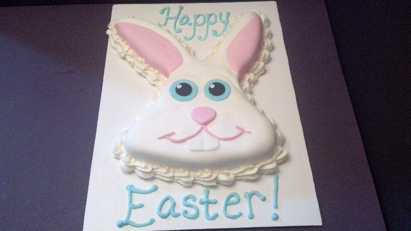 Easter Bunny Head cake www.facebook.com/cakesmadebychrissy