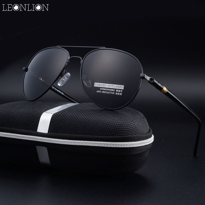 LeonLion 2017 New Fashion Male Sunglasses Men Women Top Brand Designer  Glasses Luxury Polarized Classic Retro Metal Goggle dbe18893a7