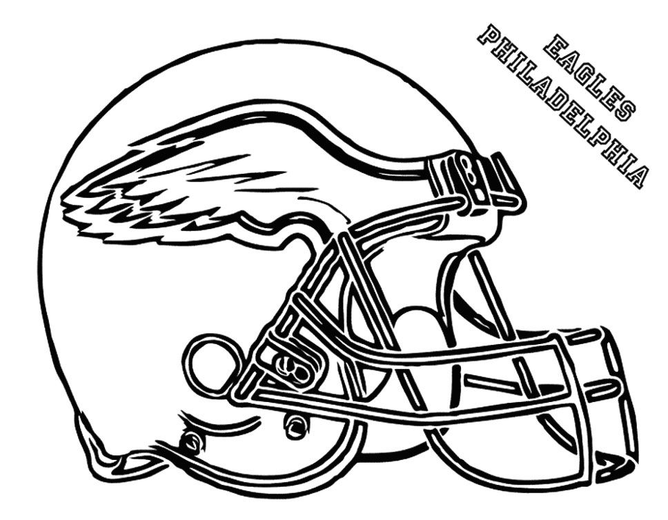 Coloring Rocks Football Coloring Pages Football Helmets Eagles Football