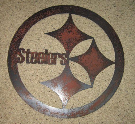 Steelers Wall Art steelers football sign - custom wall art. $25.00, via etsy. | i