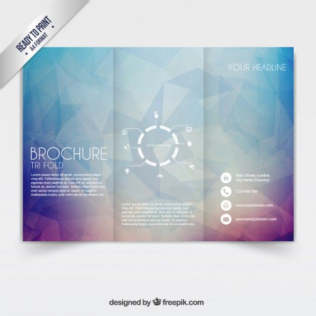 Tri Fold Brochure Free Vector Name Card Brochure Pinterest