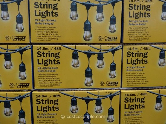 Feit Electric Led String Lights Unique Best Outdoor String Lights $59 Costco Feit Electric 48 Ft  For The Review