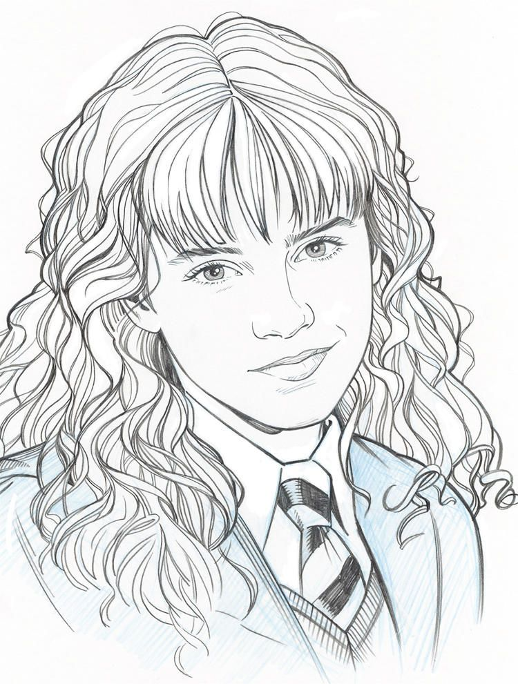 Hermione Portrait By Jerome K Moore With Images Harry Potter
