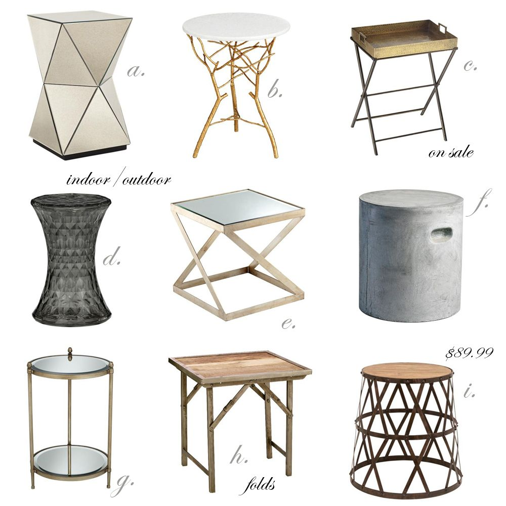 My Favorite End Tables, Accent Tables, Bar Carts. When