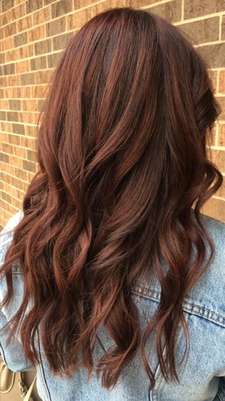auburn hair, fall 2018 hair, medium brown auburn, red hair
