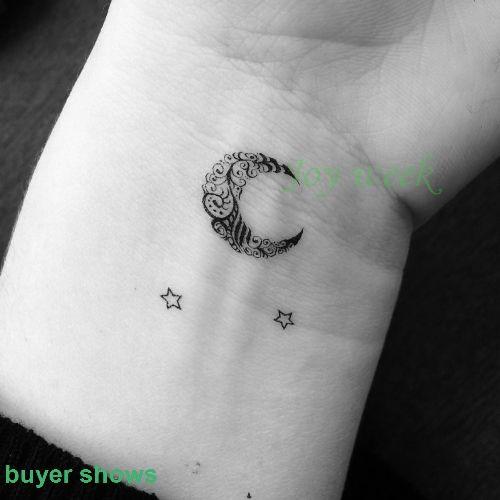 Waterdichte Tijdelijke Tattoo Sticker kleine ster maan vinger pols oor vogel tatto stickers flash