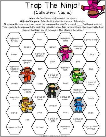 NOUN Bingo Cards to Download, Print and Customize!
