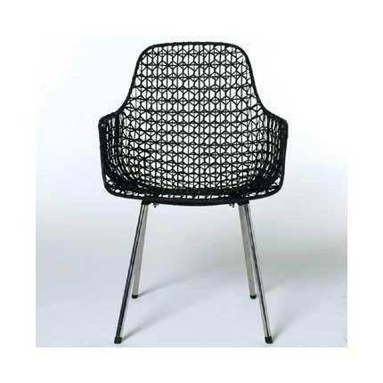 Chaise grillagée en rotin