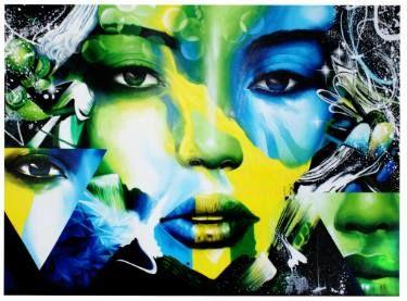 """Saatchi Art Artist Justus Becker   COR; Painting, """"Green Woman Face"""" #art"""