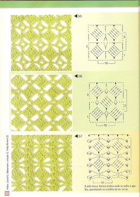 lots of crochet stitches gardinen pinterest h kelmuster muster und h keln. Black Bedroom Furniture Sets. Home Design Ideas