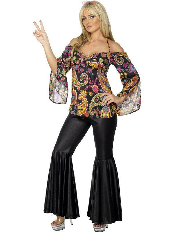 Women\'s Plus Size Hippie Costume, Female in 2019 | halloween costume ...