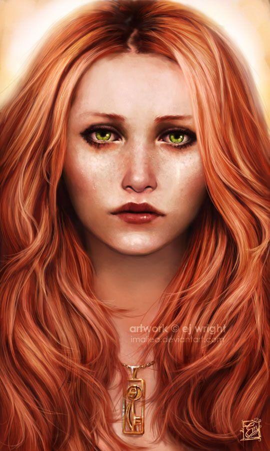 Red Hair Portraits Female Minus Modern Character Art